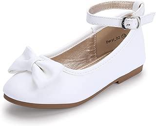 Hehainom Toddler/Little Kid Girl's Ballet Dress Flats Ankle Strap School Uniform Shoes
