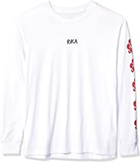 RVCA Men's Ar Lottie Flowers Long Sleeve Crew Neck T-Shirt