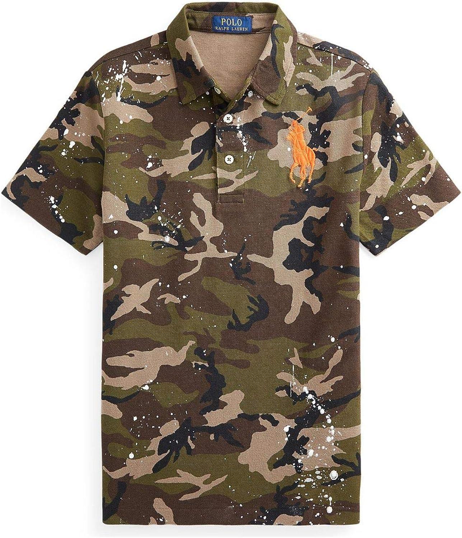 Polo Ralph Lauren Boy`s Camo Paint Splatter Mesh Polo Shirt