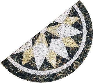 Karrychen Felpudo semicircular, Antideslizante, patrón de mármol, Media Luna, Alfombrilla de PVC, 30X60cm - 1#