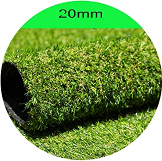 YNFNGX Artificial Turf Grass Outdoor Green High Density Holiday Lawn Dog Pet Nature & Reality Looking Garden 20mm (Size : ...
