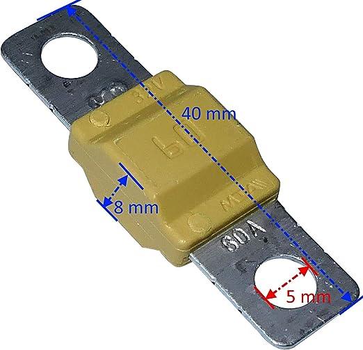 Aerzetix C10056 Sicherung Groß Braun Midi 70a 32v 40mm Für Auto Lkw Dienstprogramm Auto