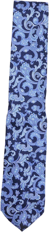 Stefano Ricci Men's Royal Blue Navy Paisley Cravatta In Seta Stampata Luxury Necktie - One Size
