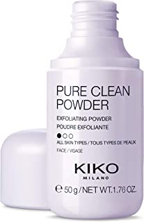 KIKO MILANO - Pure Clean Powder Exfoliating Cleansing Powder which Transforms into a Foam on Contact with Water | 50 g 1.76 OZ | Face Wash Exfoliator for All Skin Types | Made in Italy