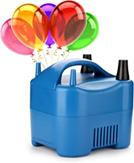 AGPtek Two Nozzle High Power Electric Balloon Inflator Pump Portable Blue Air Blower,680W High Power,Inflate In One Second