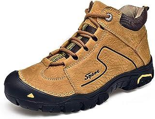 CAIFENG Botas de Senderismo para Hombres Zapatos de Escalada Deportivos al Aire Libre al Aire Libre con Cordones de Cuero ...