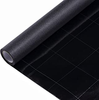 VELIMAX Static Cling Total Blackout Window Film Privacy Room Darkening Window Tint Black..