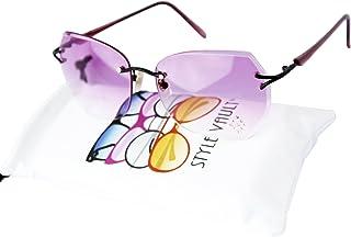 1b26ba5a905 E3046-vp Style Vault Rimless shield Hexagon Geometric Sunglasses