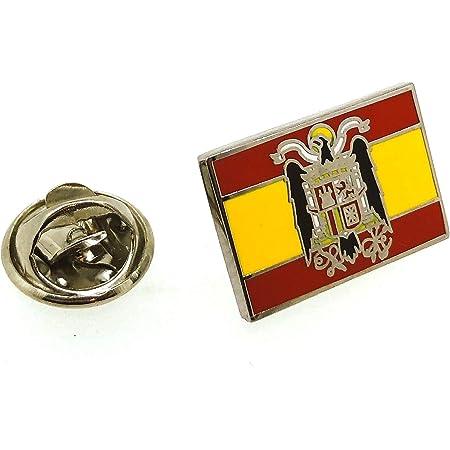 Gemelolandia | Pin de Traje del Bandera de España Aguila San Juan | Complementos Originales de Hombres y Niños Para Chaquetas, Americanas o Jerséis | Detalles Para Regalos
