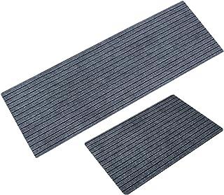 WEICHUAN - Set di 2 tappetini da cucina antiscivolo, design a scanalatura, assorbente, tappeto per porta d'ingresso, moder...