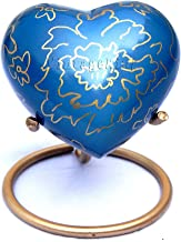 Vintage King Handmade Blue Mini Heart Keepsake Urn with Stand- Small Flower Urn for Human Ashes Purple - Honor Your Loved ...