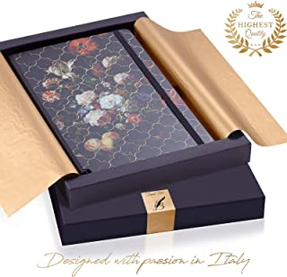 Exclusive Writing Journal for Women - Handmade in Italy with Ivory Paper - Travel Diary Notebook for Daily Notes, Dreams or Planning - Perfect for a Traveler, Writer, Musician or Student – Great GlFT
