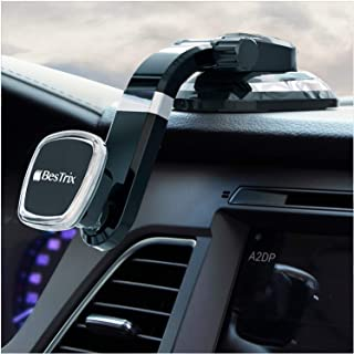 Phone Holder for Car, Magnetic Phone Car Mount, Dashboard Car Phone Holder Compatible with iPhone Xs,XS MAX,XR,X,8,8Plus,7,7Plus,6,6Plus, Galaxy S7,8,9,10, Google and all smartphones by Bestrix