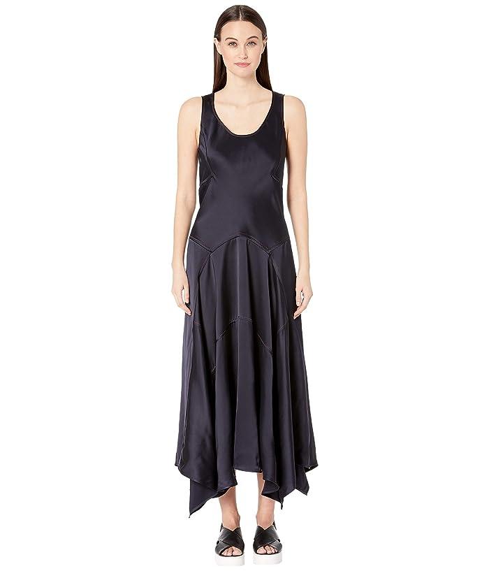 Sportmax Trine Sleeveless Satin Dress (Midnight Blue) Women