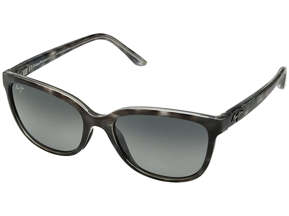 Maui Jim Honi (Grey Tortoise Stripe) Athletic Performance Sport Sunglasses
