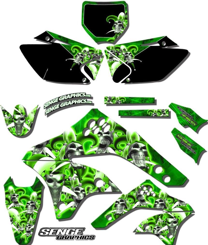 2002-2009 KLX 110 Jester Green Complete Senge Graphics kit Compatible with Kawasaki