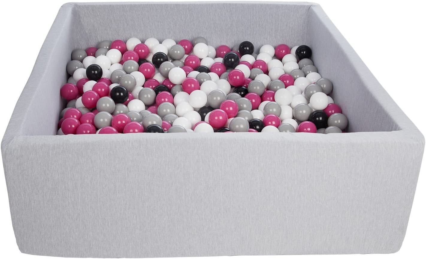 Kugelbad weiches Bällebad Quadrat und Plastikbälle für Kinder Ball Pool Bällch