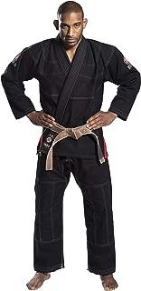 Ronin Insignia V2 BJJ Gi - Brazilian Jiu Jitsu Uniform- Knee Padding and Reinforced Crotch 100% Quality Pre-Shrunk Cotton – 4 Sizes 3 Colors Blue, White, Black - 450 GSM Pearl Weave Material