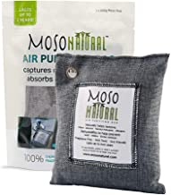 MOSO NATURAL Air Purifying Bag. Odor Eliminator, Odor Absorber for Cars and Closets. 200g Charcoal Color