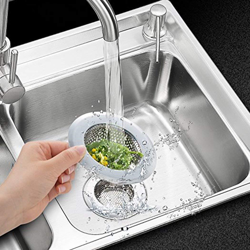 Fayomir Abflusssieb 18er Set, 18CM Edelstahl Küchen spüle Dusche Badewanne  Abfluss Spüle Filter Sieb, 18 Stück Abfluss Sieb, Verschiedene Größen sind  für