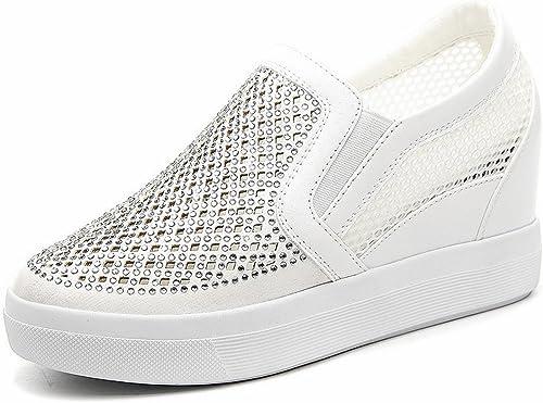 YTTY dans l'augHommestation des Petites Chaussures Blanches Chaussures Chaussures Nettes pour Aider Les Chaussures Féminines Chaussures Chaussures Blanc 39