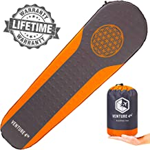 Self Inflating Sleeping Pad - No Pump or Lung Power Required - Warm, Quiet and Supportive Mattress For a Comfortable Night's Sleep - Compact and Ultra Light Mat - Ideal For Backpacking and Camping