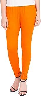 American-Elm Women's Cotton Viscose Ankle Length Legging- Orange