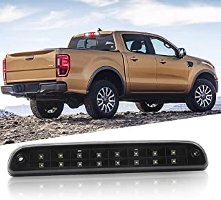 Easy Eagle 3rd LED High Mount Stop/Tail Brake/Cargo Lights with Dual Row LEDs for Ford Super Duty/Ranger/Mazda B-Series (Black/Smoke)