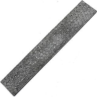 SATT-9022 Barra de acero de damasco hecha a mano con patrón de gota de lluvia > barra hecha a mano patrón de gotas de lluvia Damasco barra de acero en blanco para cuchillos que hacen suministros