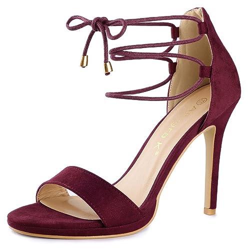 cadd757dd5aa Allegra K Women s Open Toe Stiletto High Heel Ankle Strap Sandals