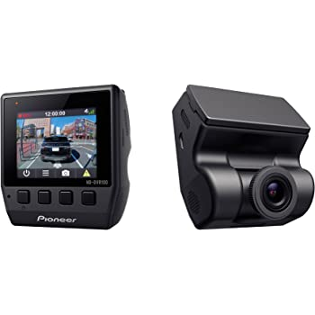 PIONEER ND-DVR100 Low Profile Full 1080P HD Dash Camera with 2-Inch Display, 140° Ultra-Wide Viewing Angle, G-Sensor & Built-in GPS, Black