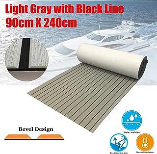CHURERSHINING EVA Teak Decking Sheet for Boat Yacht Marine Floor Carpet Non-Slip and Self-Adhesive Bevel Edge 94.5