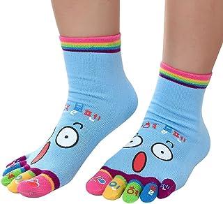 Women Funny Ankle Socks Cute Print Five Fingers Socks Novelty Athletic Running