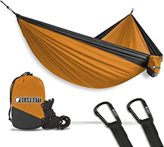Bear Butt Hammocks - Camping Hammock for Outdoors, Backpacking & Camping Gear - Double hammock, Portable hammock, 2 Person Hammock for Travel, outdoors - Tree & Hiking Gear - Hammock that Holds 700lbs