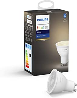 Philips Hue - Bombilla LED inteligente, GU10, Luz cálida regulable, 5.2W, Compatible con Alexa y Google Home