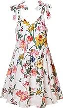 Jxstar Girls Floral Dresses Summer Adjustable Bowknot Halter Beach Sundress