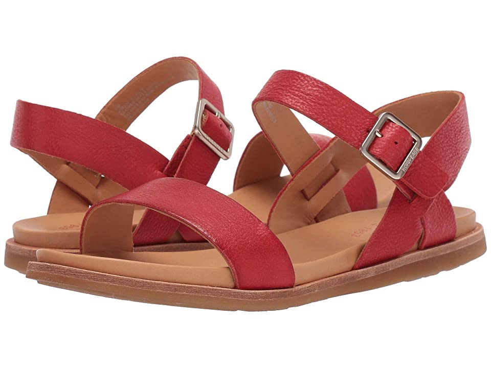 Pin Up Shoes- Heels, Pumps & Flats Kork-Ease Yucca Red Full Grain Leather Womens Sandals $124.95 AT vintagedancer.com