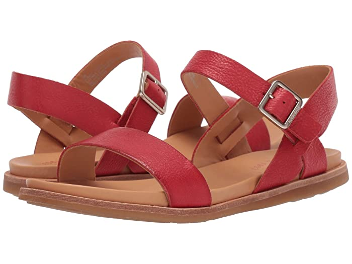 1950s Style Shoes | Heels, Flats, Saddle Shoes Kork-Ease Yucca Red Full Grain Leather Womens Sandals $99.95 AT vintagedancer.com