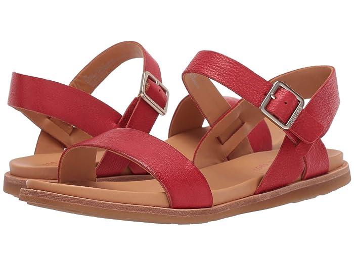 Vintage Sandal History: Retro 1920s to 1970s Sandals Kork-Ease Yucca Red Full Grain Leather Womens Sandals $99.95 AT vintagedancer.com
