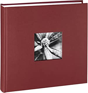 """Hama Album Photo """"Fine Art"""" (format 30 x 30 cm, 100 pages blanches, sans spirale) Bordeaux"""