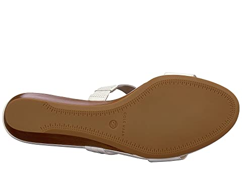 Cole Haan Findra Woven Slide Wedge Sandal Black Leather