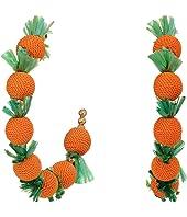 """2""""X2"""" """"C"""" Shape Post Hoop Earrings with Oranges"""