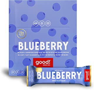 Sponsored Ad - good! Snacks Vegan Blueberry Protein Bar | Gluten-Free, Plant Based, Low Sugar, Kosher, Soy Free, Non GMO |...