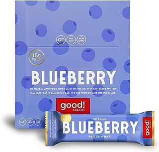 good! Snacks Vegan Blueberry Protein Bar | Gluten-Free, Plant Based, Low Sugar, Kosher, Soy Free, Non GMO | 15g Protein (12 Bars)…