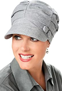 Headcovers Unlimited Pleated Newsboy Hat-Caps for Women with Chemo Cancer Hair Loss
