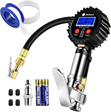 """Akface Digital Tire Inflator with Pressure Gauge, Compressor Accessories with Led Display for 0.1 Display Resolution, Rubber Hose, 250 PSI Air Chuck, Heavy Duty Steel Trigger, 1/4"""" NPT Quick Connector"""