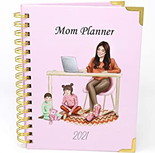 $34 » Sponsored Ad - Milky Chic Mom 2021 Planner, Weekly and Monthly Planner for Mothers with a Spiral Cover, Motivational Agend...