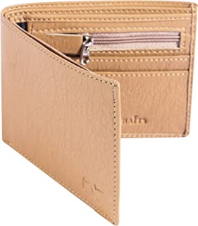 Dezire Crafts Men Formal, Casual Artificial Leather Wallet (Beige)