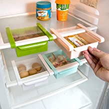 Refrigerator Storage Box 4 PCS Kitchen Storage Containers Food Organizer Freezer and Fridge Shelf Drawer for Fruit Vegetable Eggs Beans