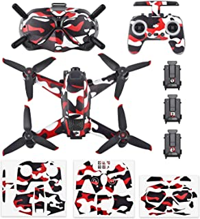 Honlyn Stickers Set Waterproof PVC Stickers Kit Decal Skin for DJI FPV Goggles Universal 4 Styles